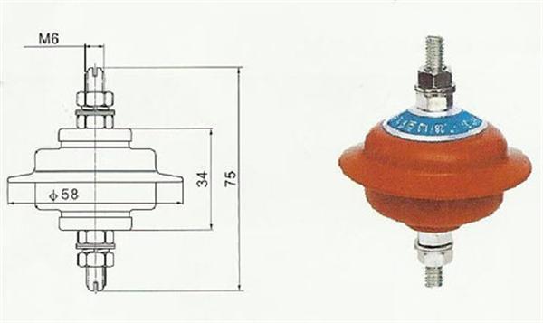 阀型避雷器阀型避雷器由间隙及阀片电阻组成,阀片电阻的制作材料是图片