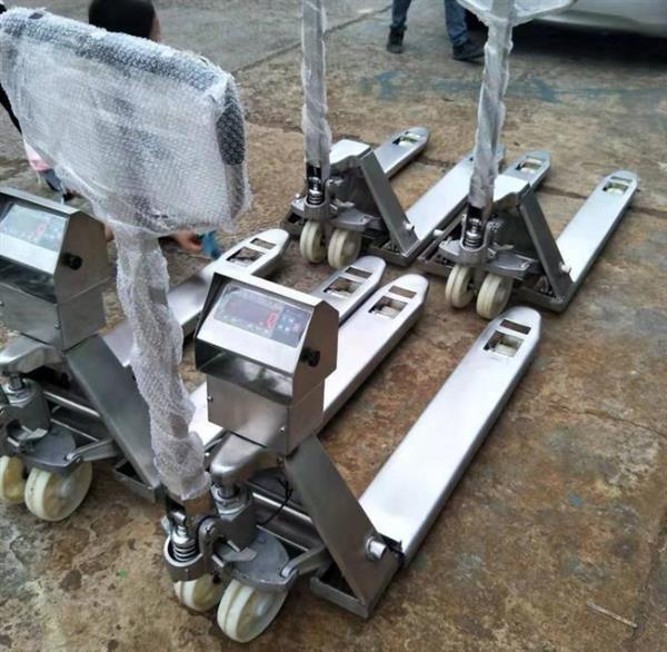 不锈钢液压车带电子秤功能