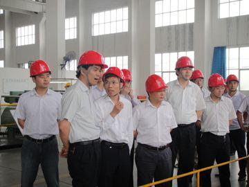 上海市嘉定区工业园领导们参观了上海本研工厂