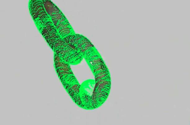水下三维检测-锚链CAD建模