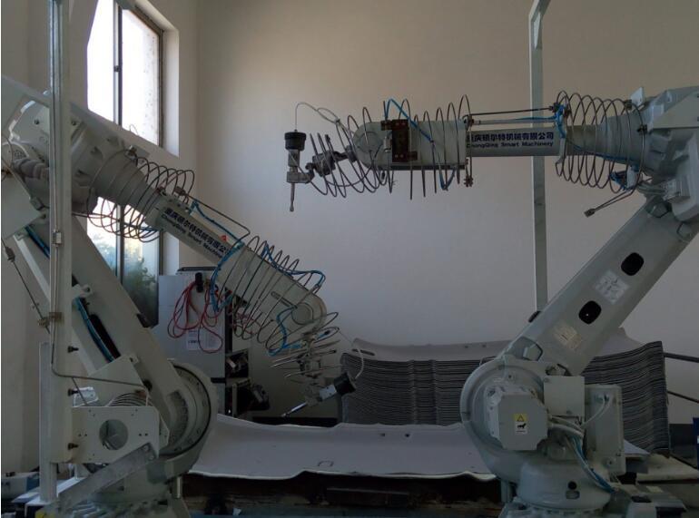 双机器人超高压水切割工作站 水射流机器人切割机