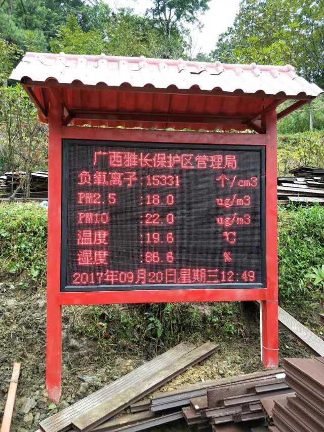 廣州負氧離子監測系統廠家,旅遊景區負氧離子氣象監測站制造商