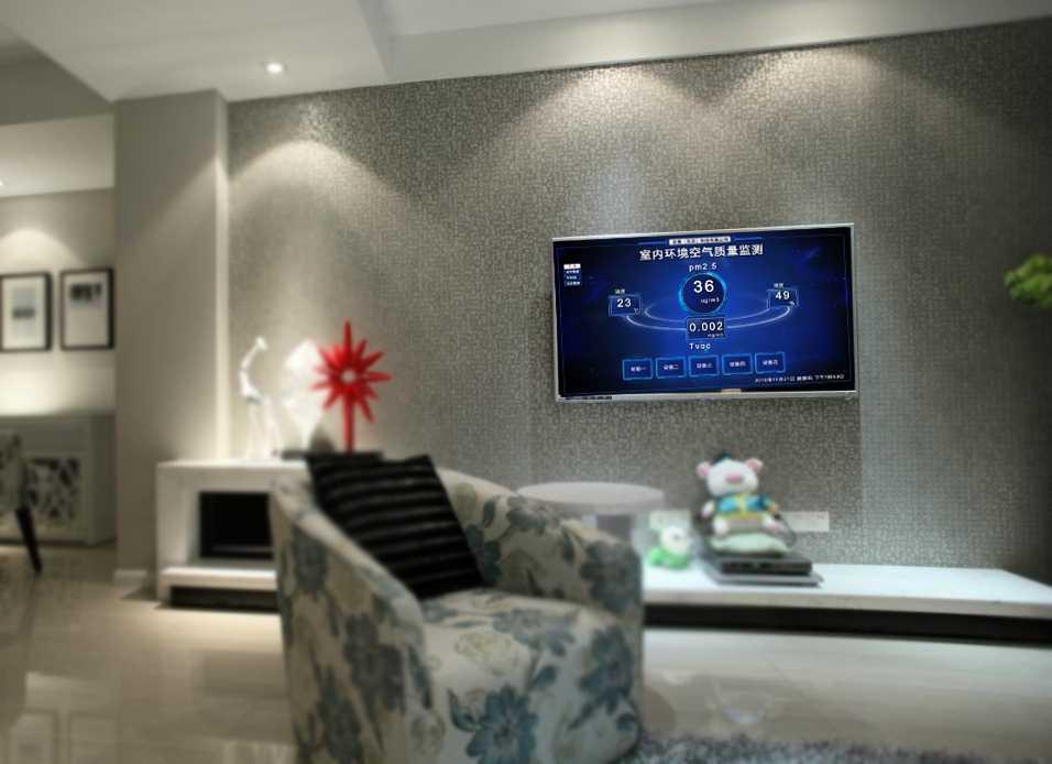 车间空气质量监测系统LED或智能电视显示