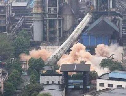 牡丹江烟囱拆除-定向拆除新闻