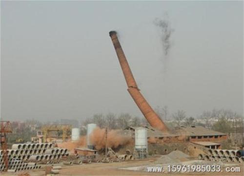 河源烟囱定向放倒公司-爆破拆除