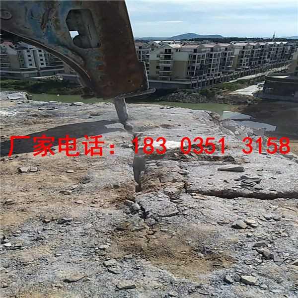 基础开挖用岩石劈裂机破石好办法