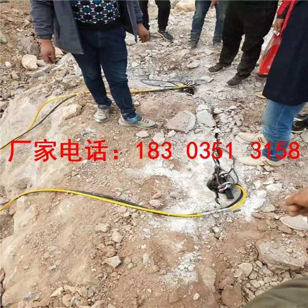 露天矿山静态开采石头分裂机取代钩机