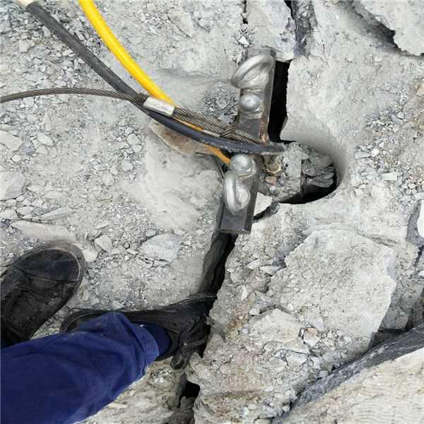基础破开坚硬岩石破裂机撑裂机每日报价