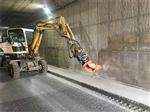 富锦隧道衬砌边墙凿毛设备混凝土凿毛机新闻