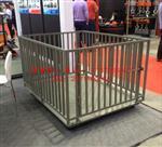 称猪狗牛羊专用围栏秤,四面带围栏电子牲畜秤