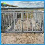 电子牲畜秤,1.2*1.5米电子地磅带围栏