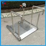 江苏宜兴不锈钢轮椅秤,医疗透析电子轮椅秤