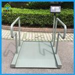 仪表自带打印功能的轮椅秤,碳钢材质电子轮椅秤