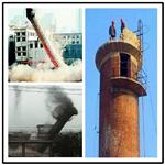 英德烟囱拆除-人工拆除精湛技术