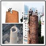 宁安烟囱拆除-人工拆除技术利