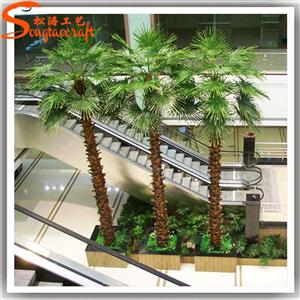 仿真棕榈树 长期供应仿真棕榈树椰子树 大型装饰假棕榈树 仿真树制作厂家直销